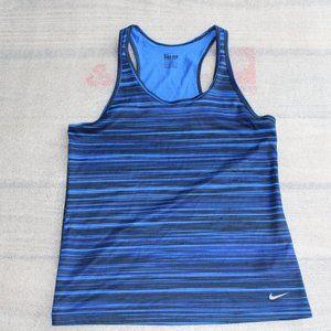Nike Women's Dri Fit Tank Blue/Black Racerback